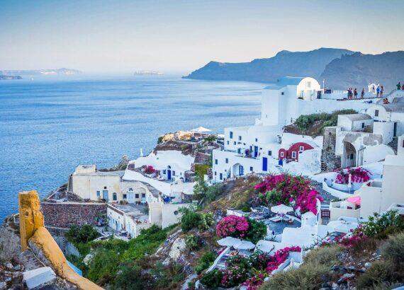Santorini Greece Buildings Houses Town Village