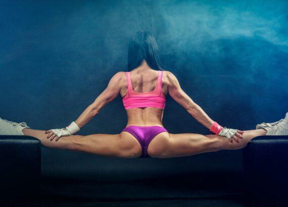 Woman Split Muscles Muscular Fit Fitness Balance