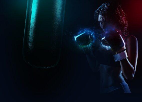 Boxer Power Energy Sport Fighter Punch Fitness