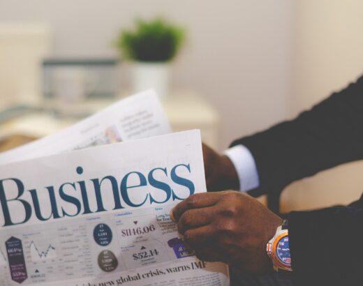 Business Businessman Newspaper Man News Male