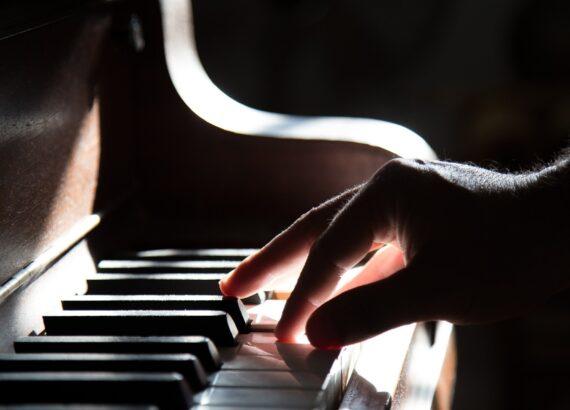 Piano Hand Playing Music Keyboard Instrument